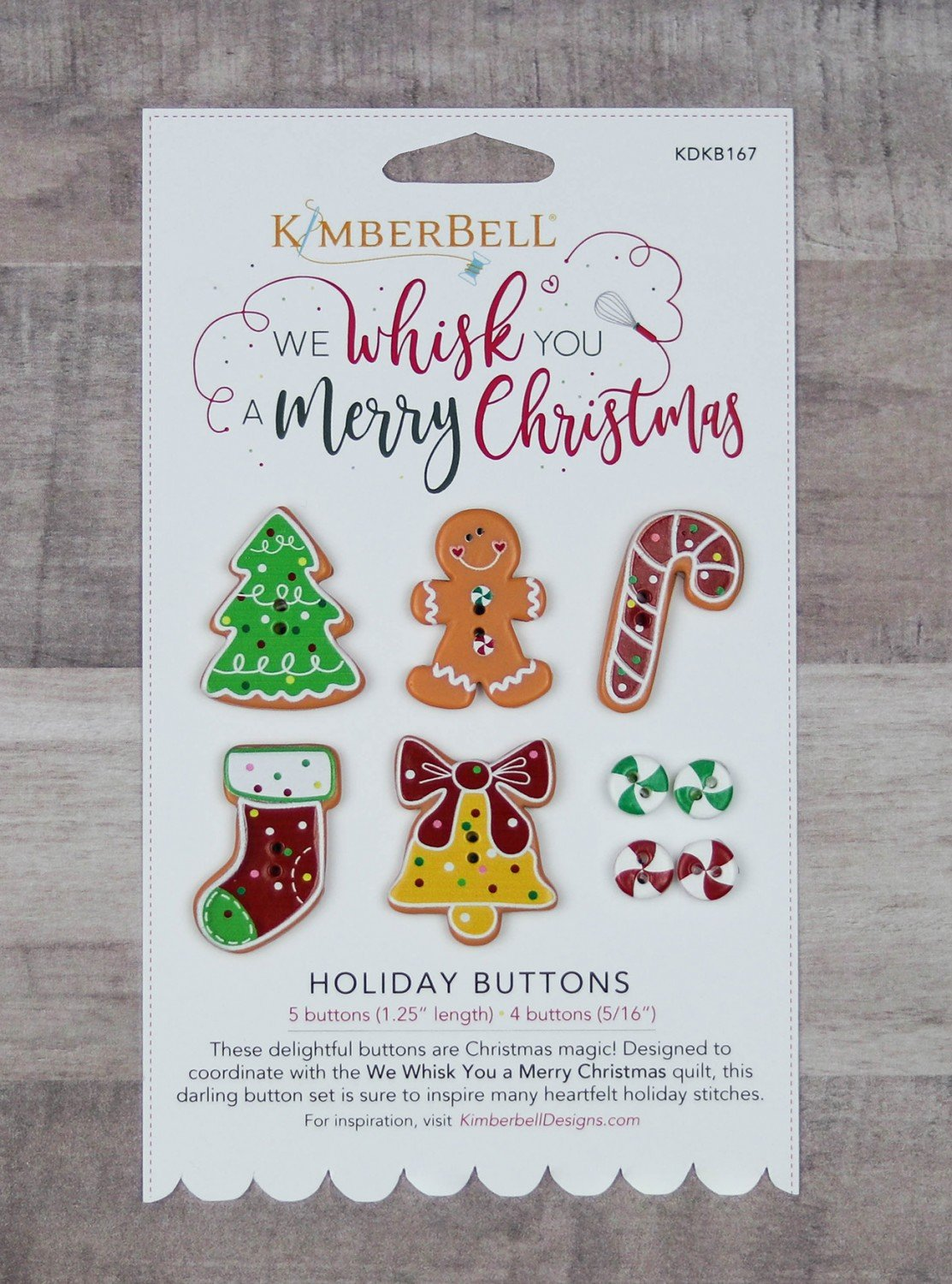 Buttons We Whisk You A Merry Christmas