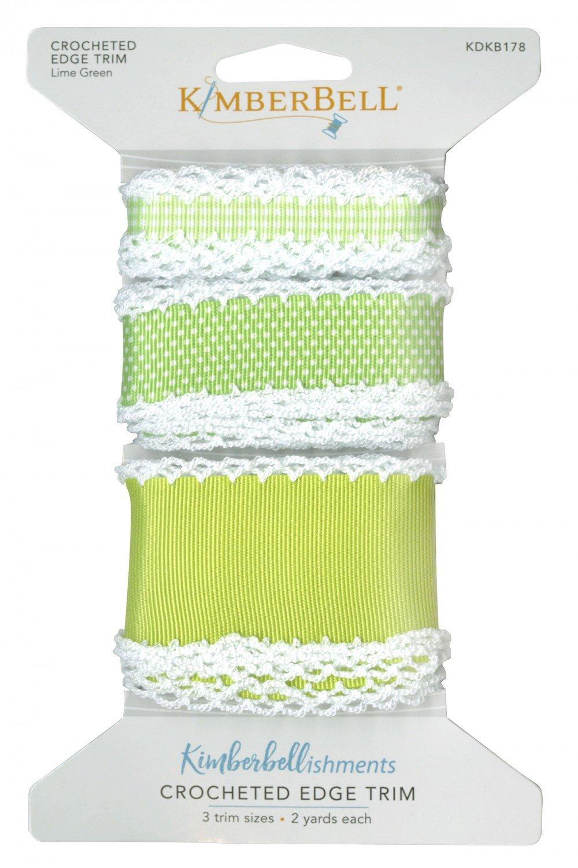 Crocheted Edge Trim - Lime Green