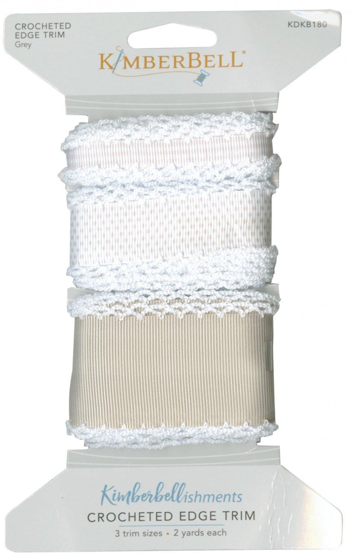 Crocheted Edge Trim - Grey