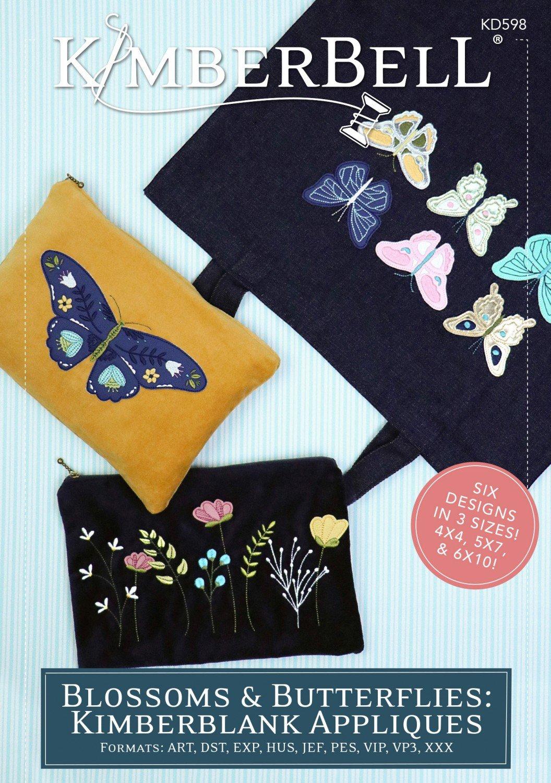 Blossoms & Butterflies Appliques Design CD