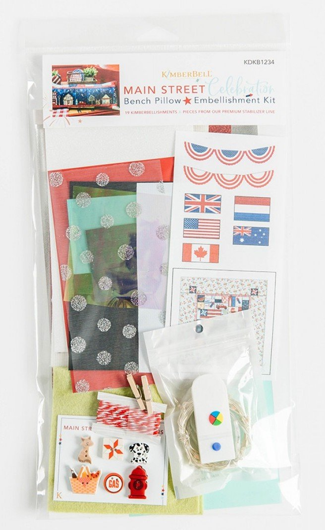 Main Street Celebration Bench Pillow Embellishments Kit