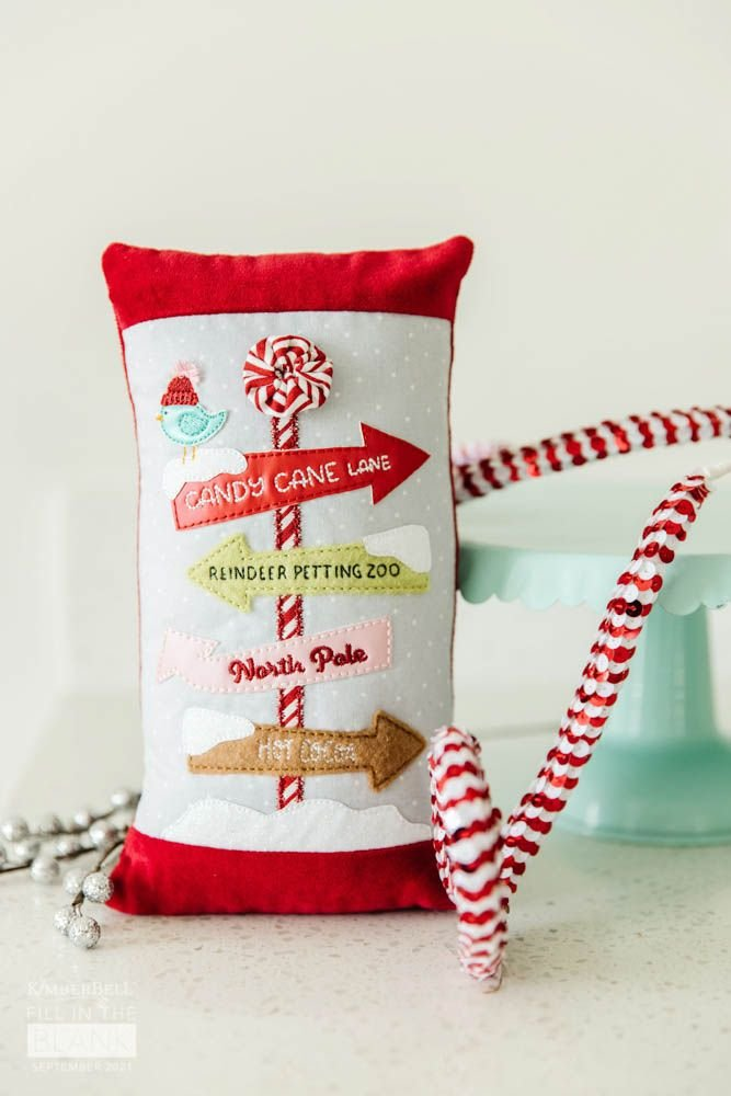 Kimberbell Fill in the Blank September - Peppermint Avenue Pillow