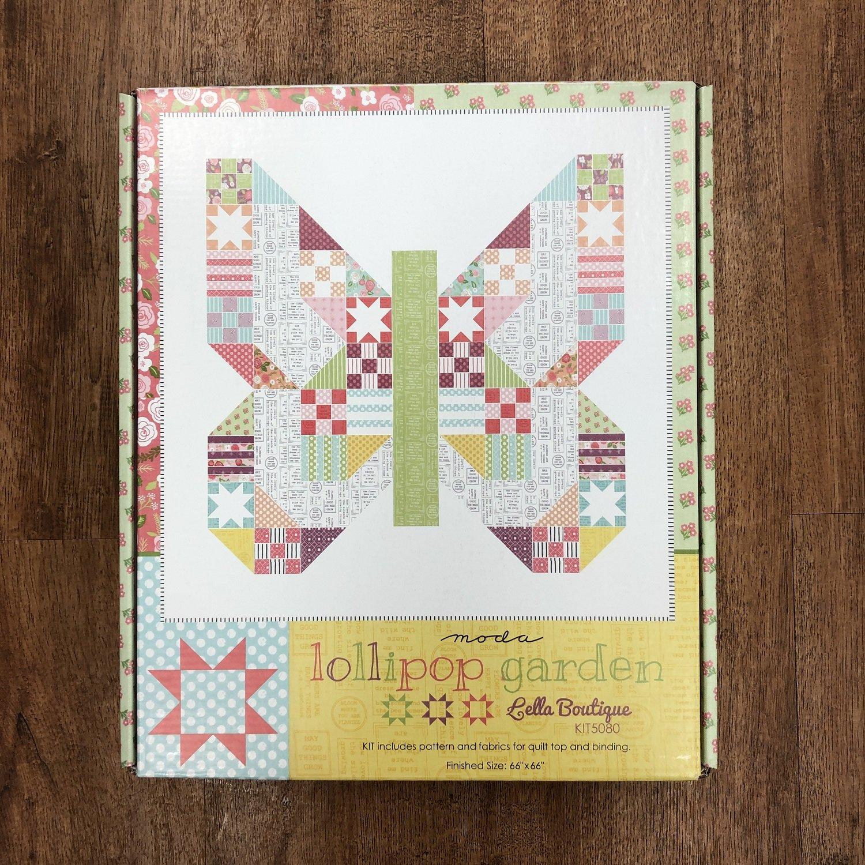 Lollipop Garden Butterfly Patch Quilt Kit