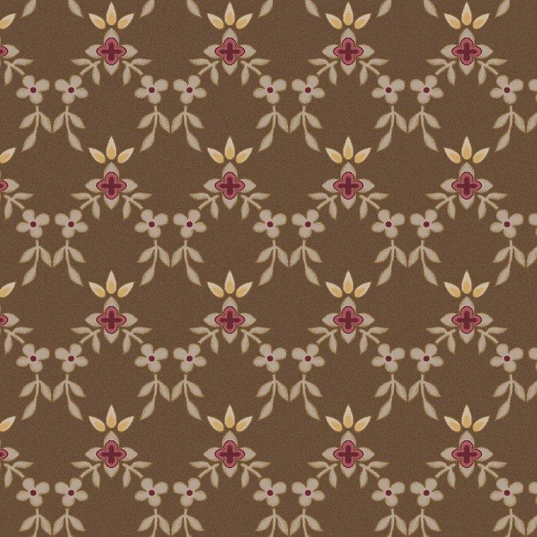 MAS8325-A Small Floral Lattice dark taupe