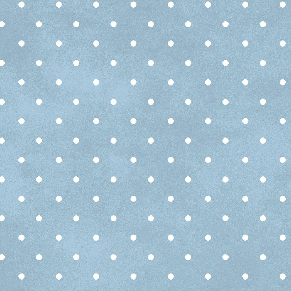 MASF609-B2 White Dots on Soft Blue Flannel