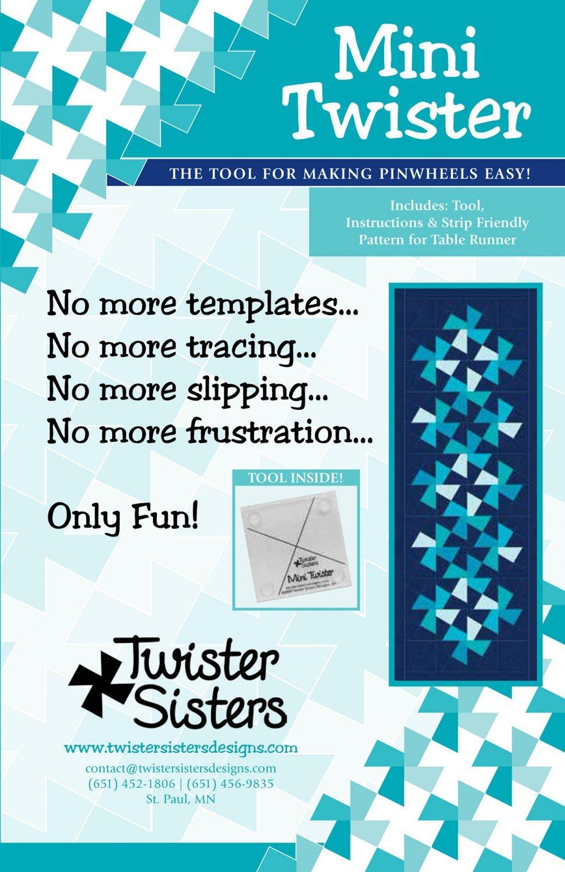 Mini Twister Pinwheel Template
