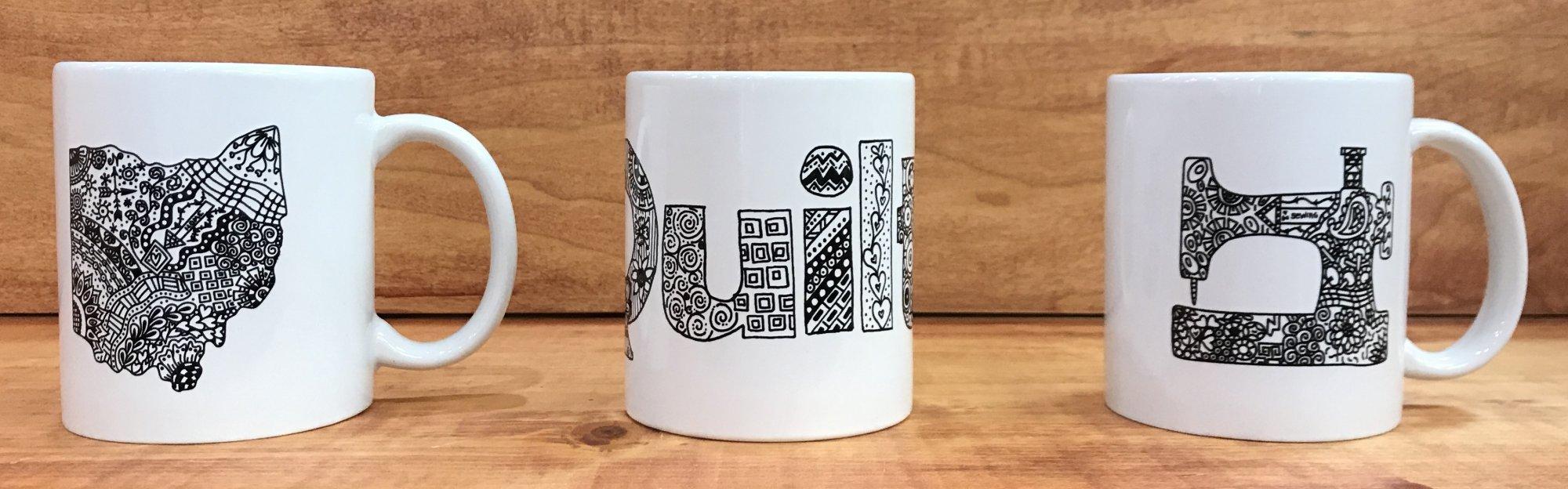 Zentangle Inspired Mugs