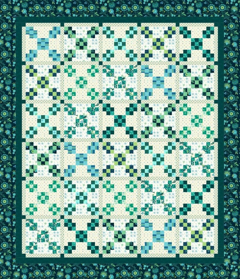 Nifty Nine Patches Quilt Kit