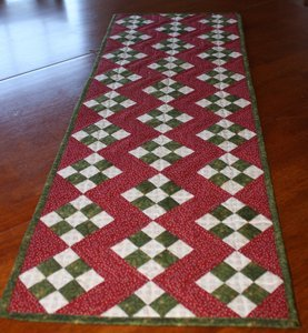 Nine Patch Christmas Table Runner Pattern - RRQ Original