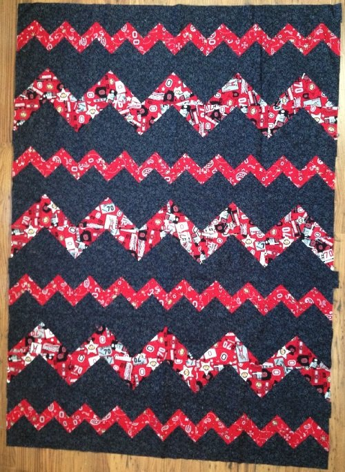 Ohio State Zigzagged Quilt Kit