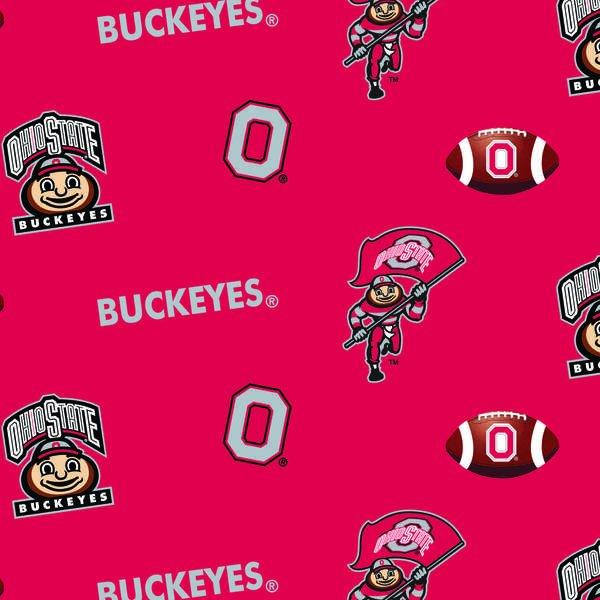 OHS-035 Ohio State Buckeyes All Over Fleece