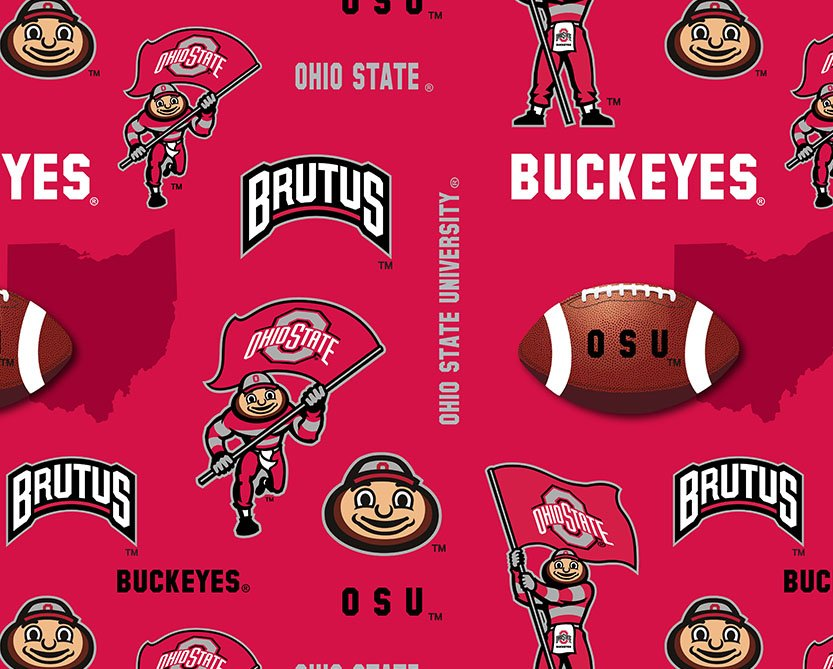 OHS-072 Ohio State Buckeyes All Over Fleece
