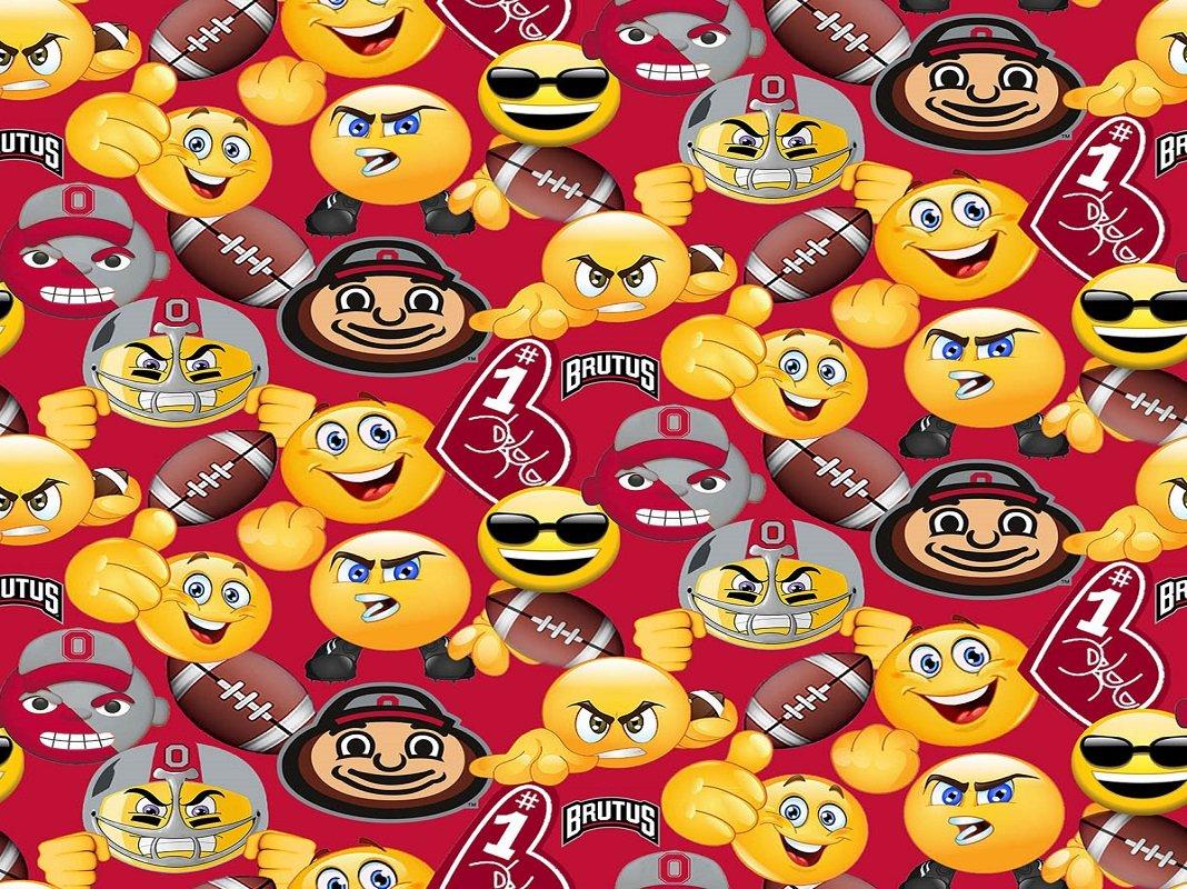 OHS-1124 Ohio State Buckeyes Emoji Print