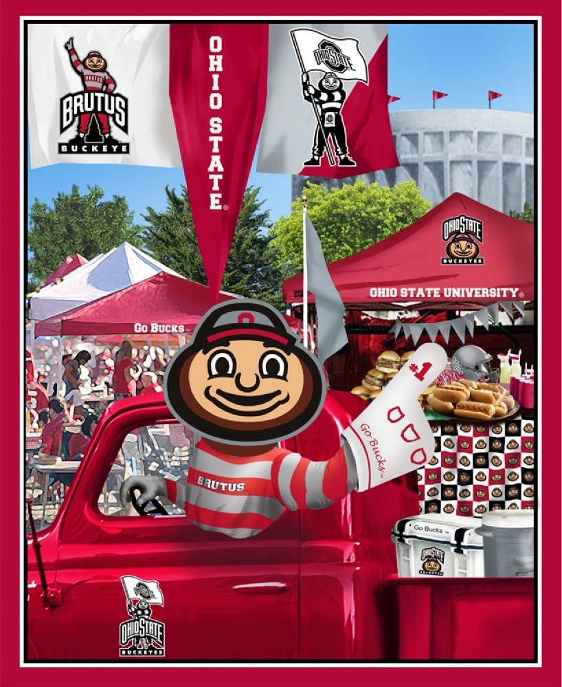 OHS-1157 Ohio State Buckeyes Digital Tailgate Panel