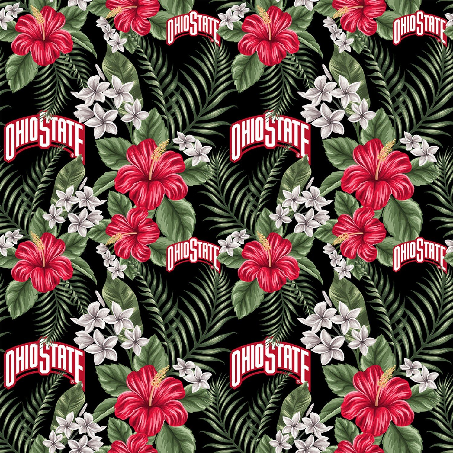 OHS-1174 Ohio State Buckeyes Palms Floral