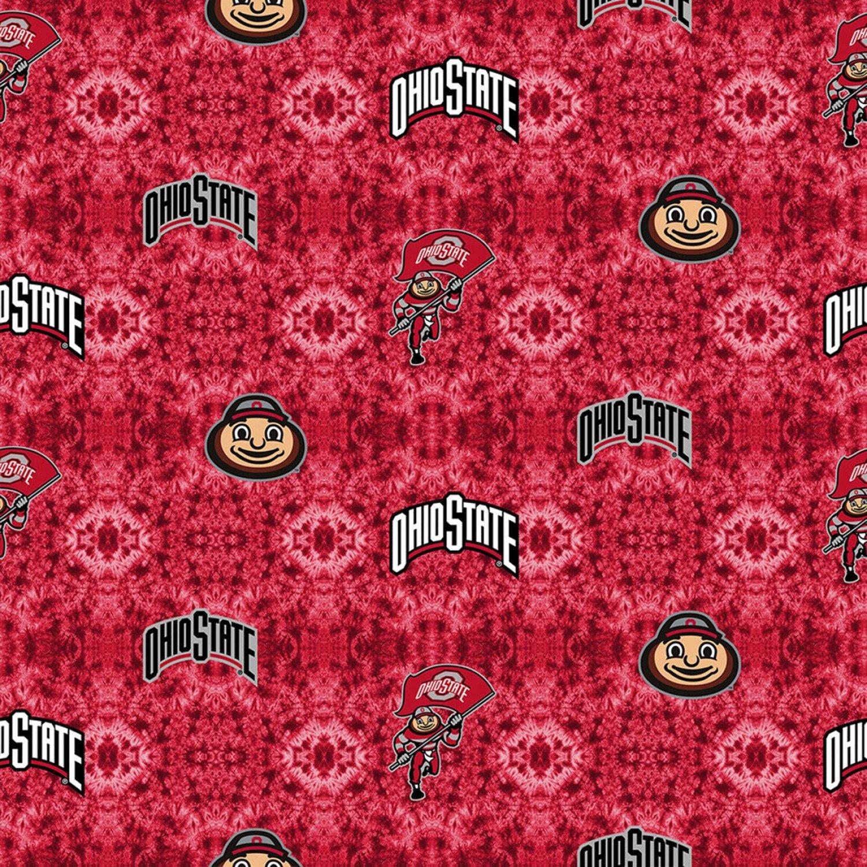 OHS-1191 Ohio State Buckeyes Tye Dye Flannel