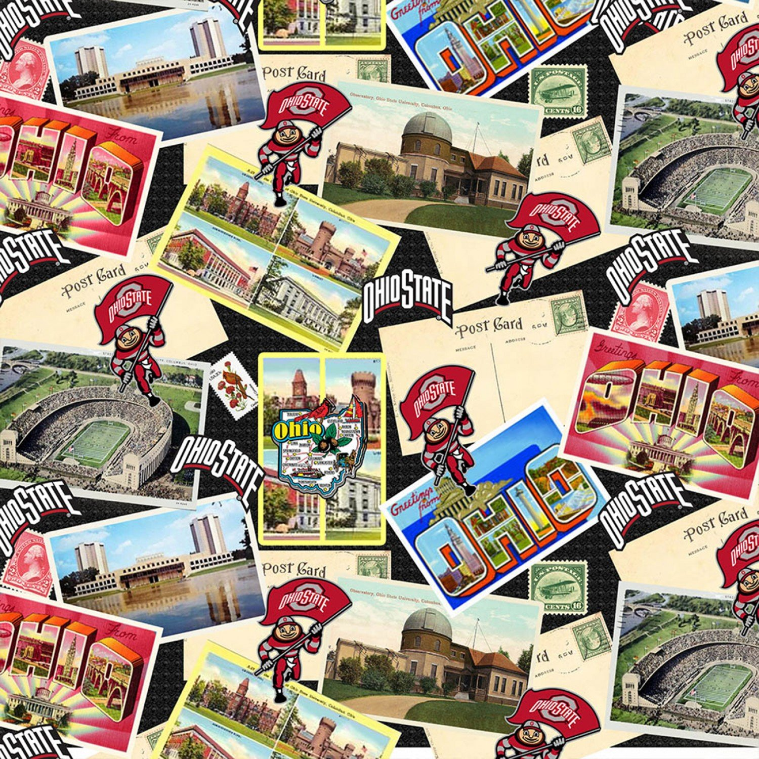 OHS-1211 Ohio State Buckeyes Scenic Postcards