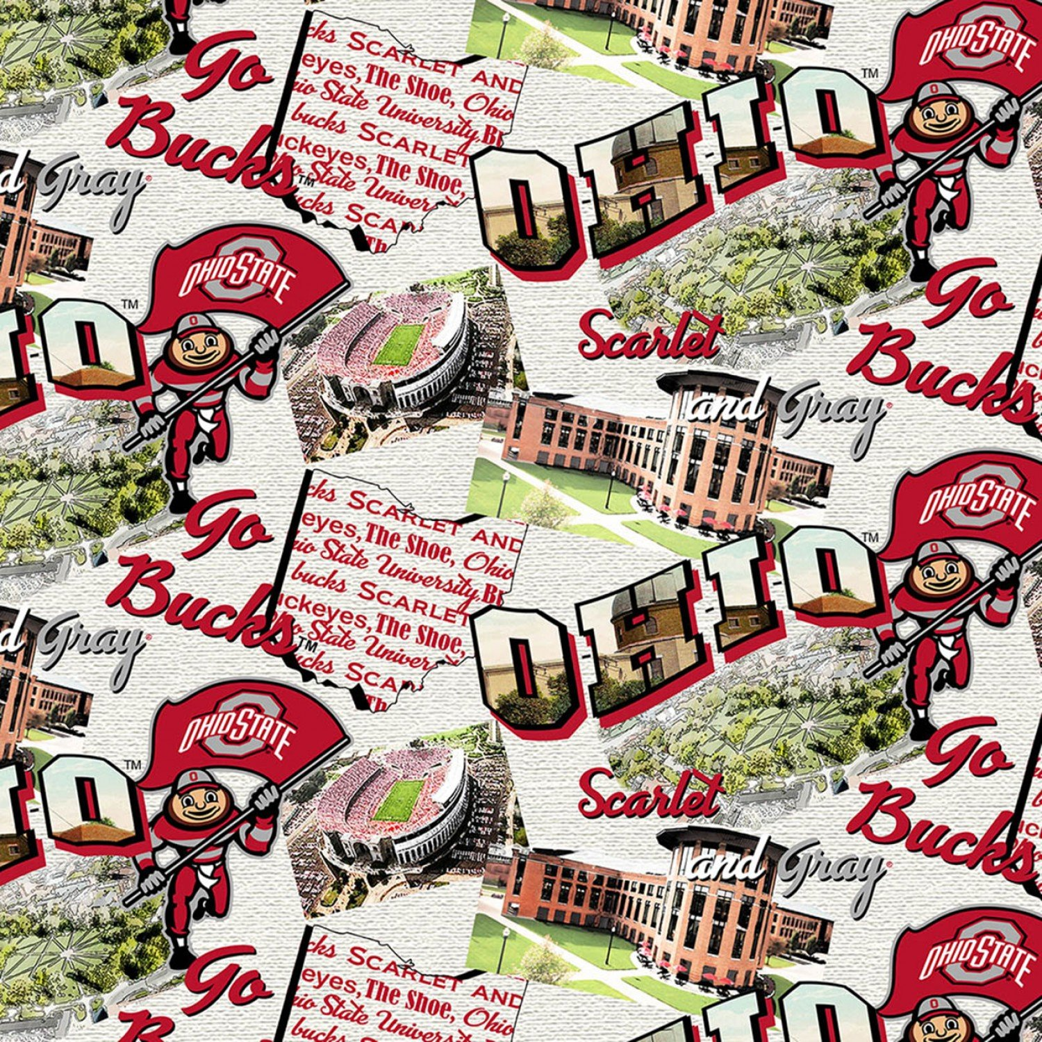 OHS-1212 Ohio State Buckeyes Scenic Map