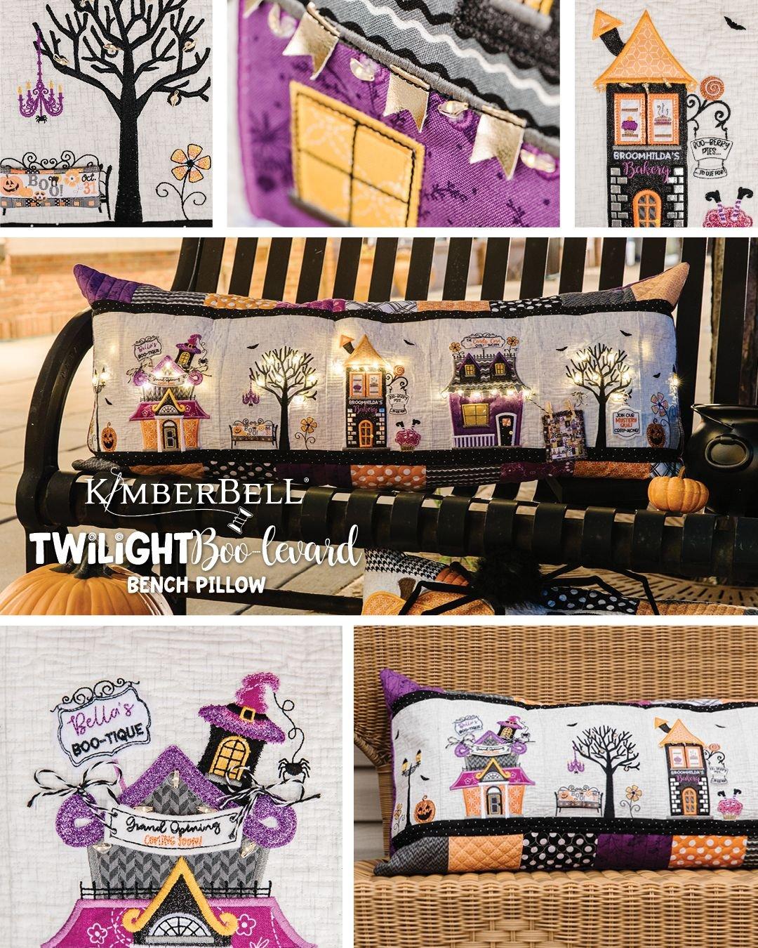 Kimberbell Twilight Boo-levard Bench Pillow Fabric Kit