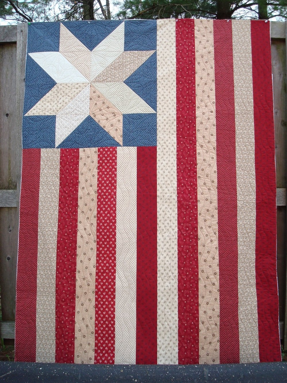 One Star One Nation Large Flag Pattern - RRQ Original