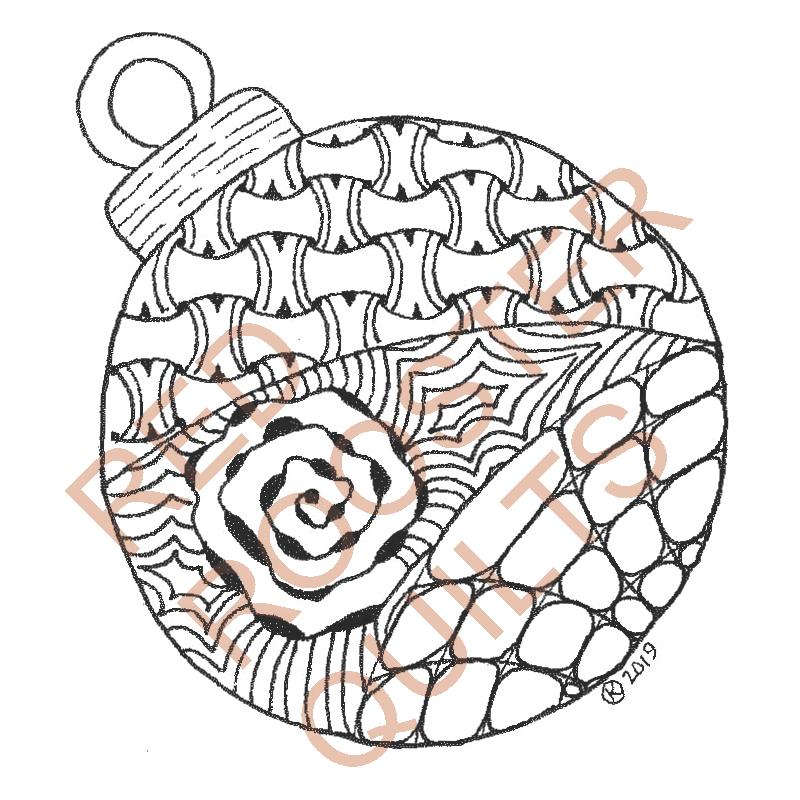 Zentangle Inspired Ornament (black) Swatch - RRQ Original