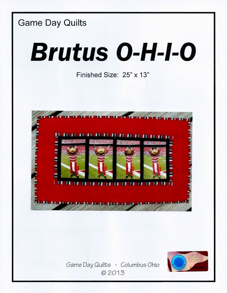 OSU Game Day Quilt Pattern - Brutus O-H-I-O