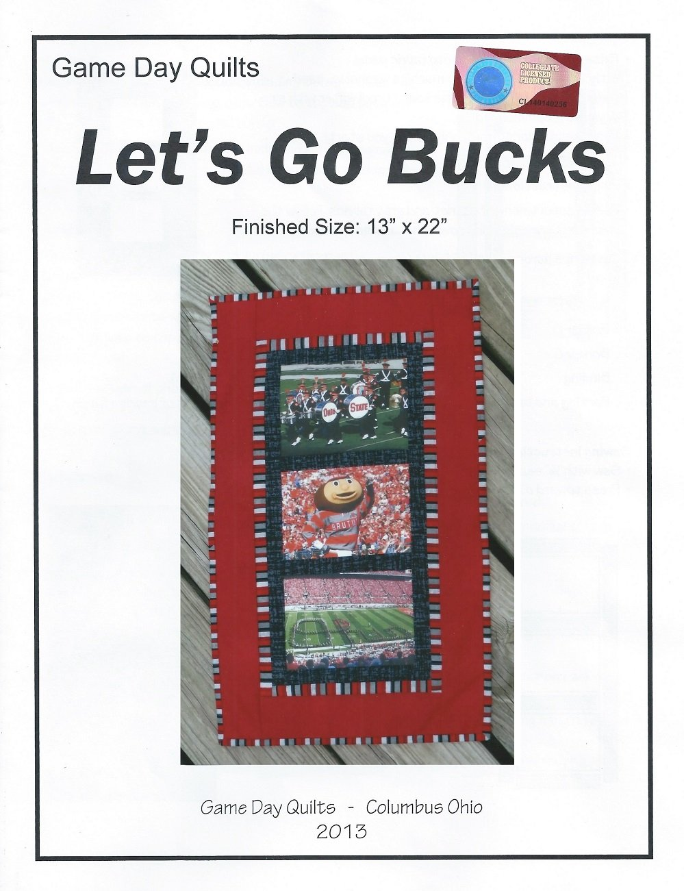 OSU Game Day Quilt Pattern - Let's Go Bucks!