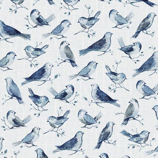 P4390-243-Delft Focal Print Birds