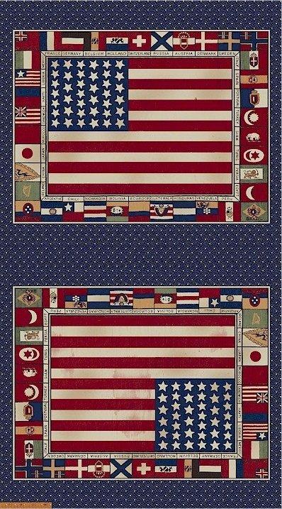 30423-1 Fairmount Park Panel Flags