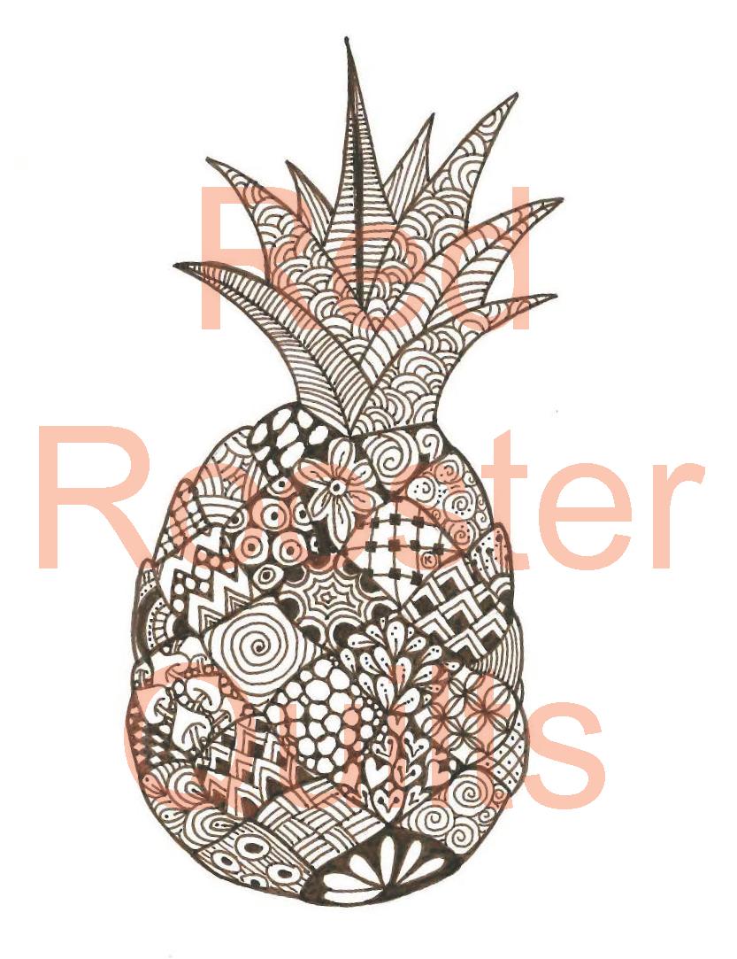 Zentangle Inspired Pineapple Swatch - RRQ Original