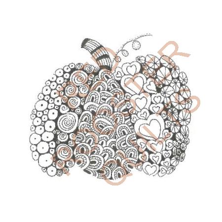 Zentangle Inspired Pumpkin Swatch - RRQ Original