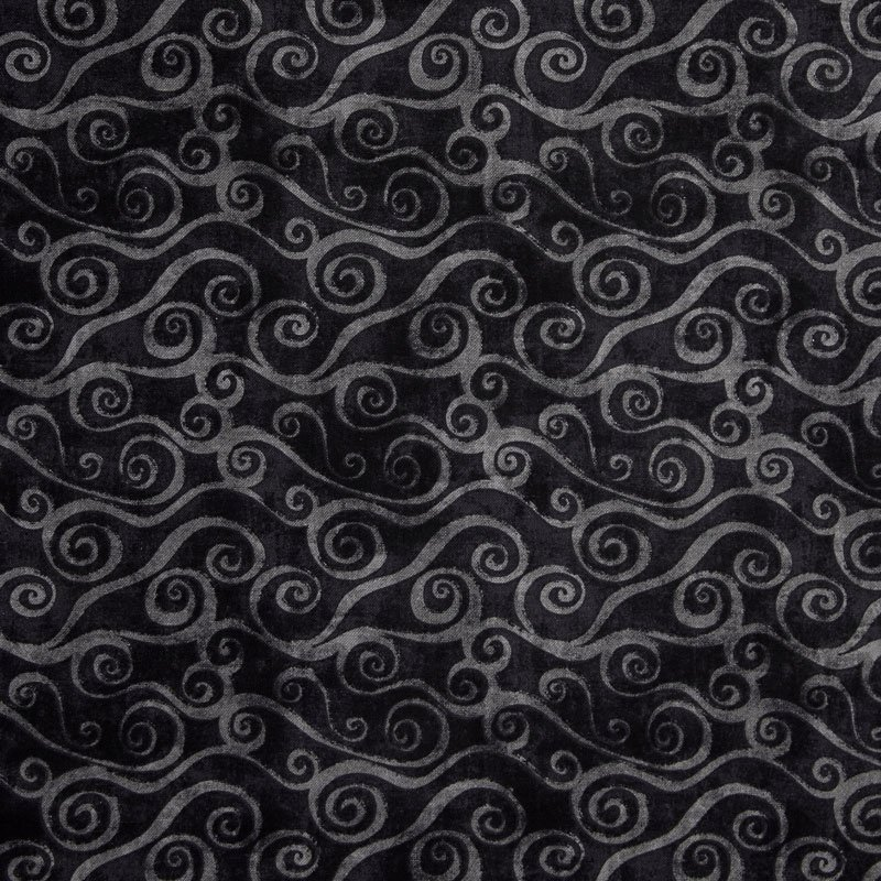 Q1817-39081-999 Swirly Scrolls Black