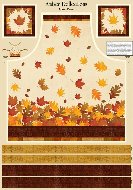 Q3009-24045-152 Amber Reflections Apron Panel multi