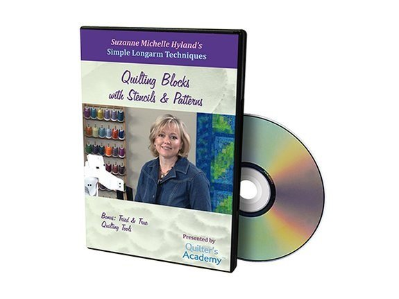 QA - Simple Longarm Techniques #6 Quilting Blocks with Stencils & Patterns DVD