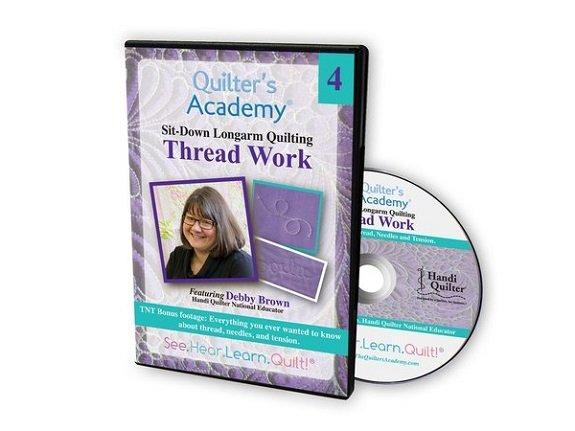 QA - Sit-Down Longarm Quilting #4 Thread Work DVD