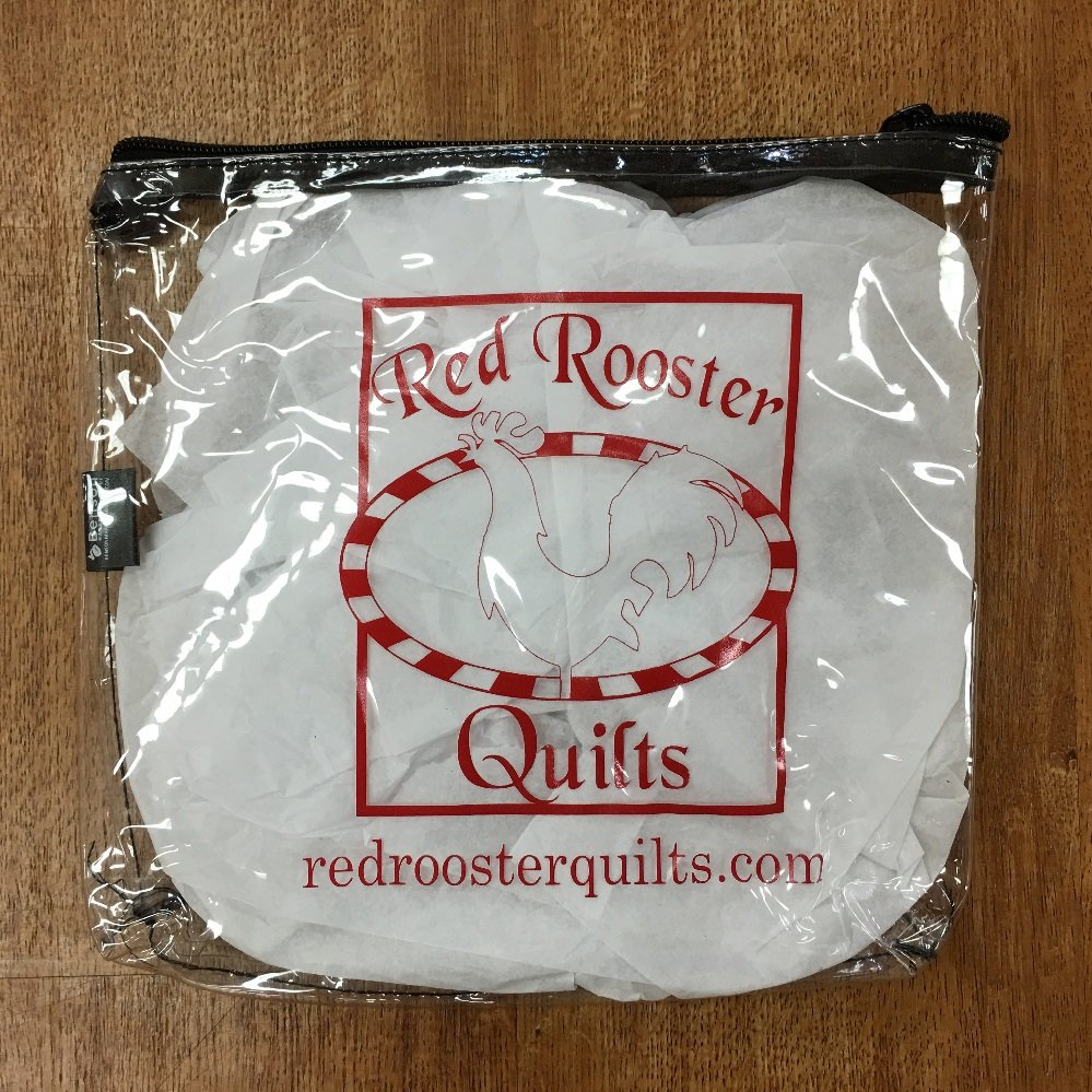 Red Rooster Quilts Vinyl Logo Bag 8x8
