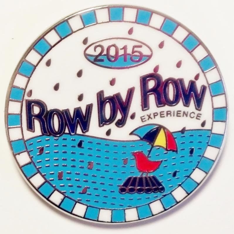 Row by Row Experience 2015 Official Commemorative Logo Pin