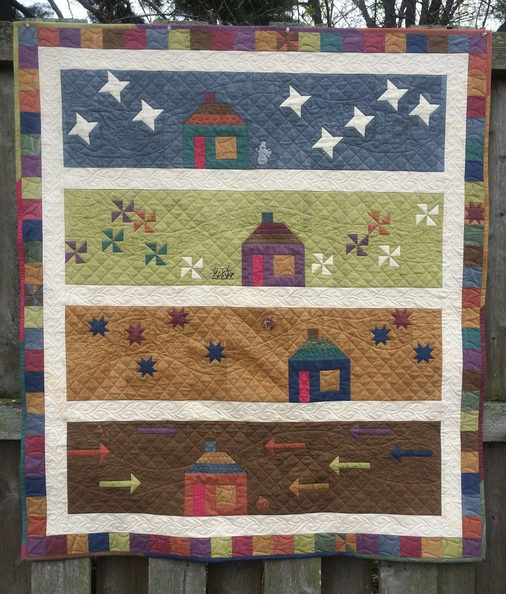 Row by Row Experience 2016 House Quilt Pattern - RRQ Original