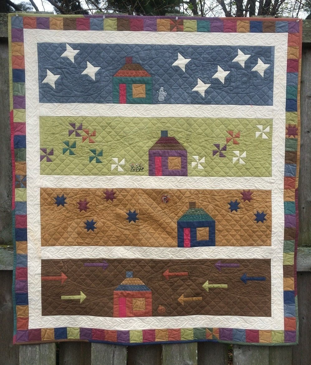 Row by Row Experience 2016 A Home 4 All Seasons Quilt Kit - RRQ Original