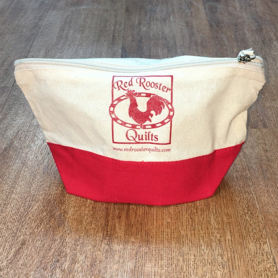 Red Rooster Quilts Logo Cloth Pouch 10x5x3.75