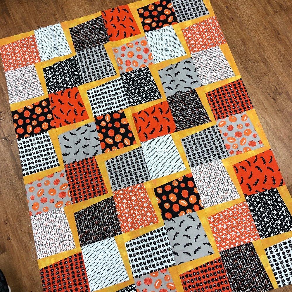Sample - Halloween Quilt Top