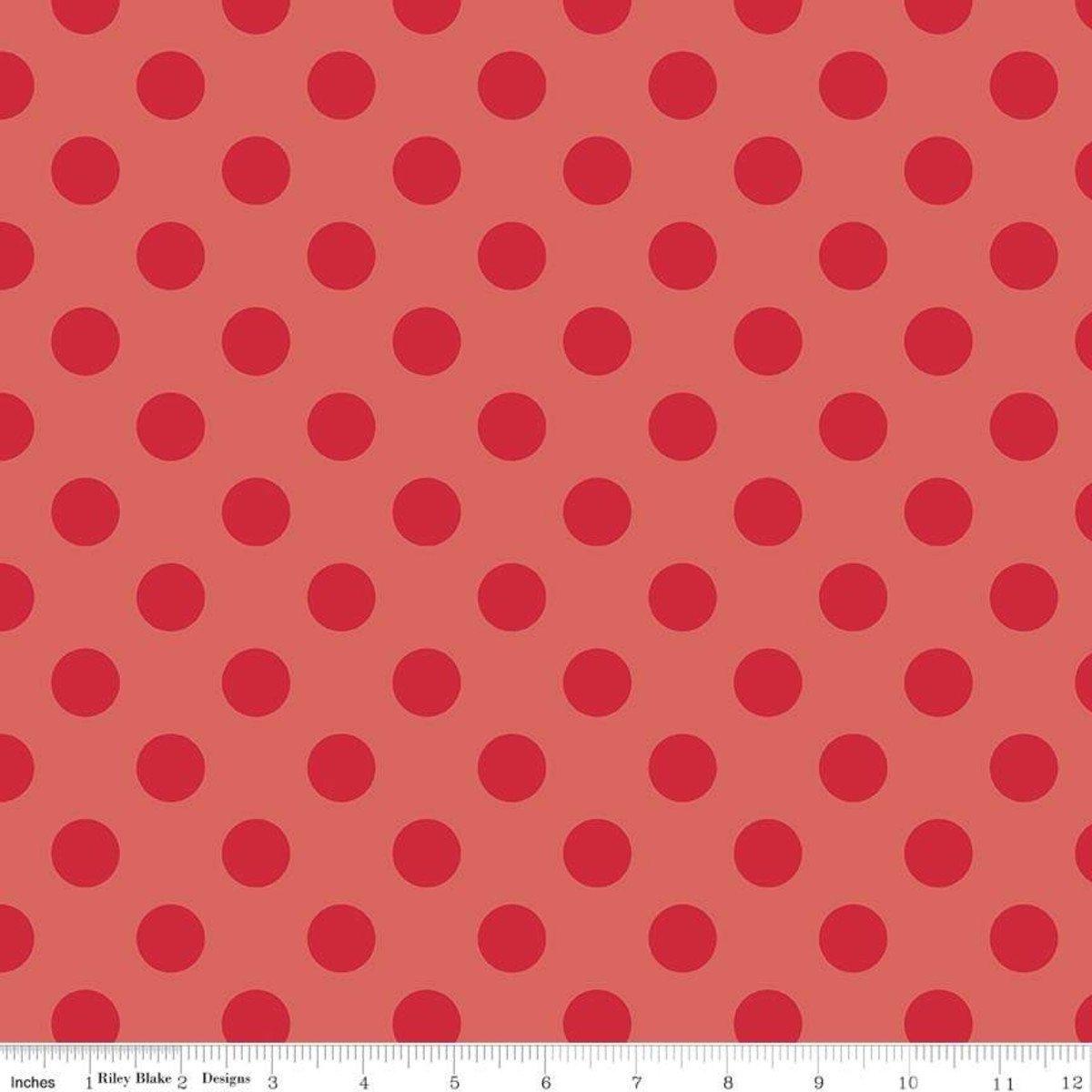 sc430-80-red sparkle Medium Polka Dots