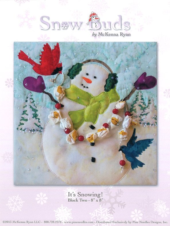 Snow Buds Applique Kit Block 2 - It's Snowing!