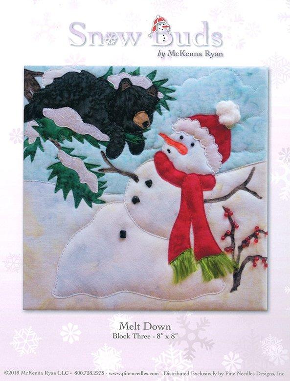Snow Buds Applique Kit Block 3 - Melt Down