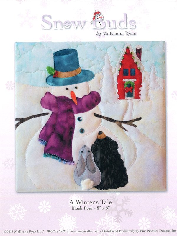 Snow Buds Applique Kit Block 4 - A Winter's Tale