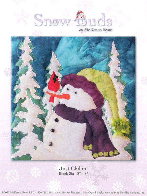 Snow Buds Applique Kit Block 6 - Just Chillin'