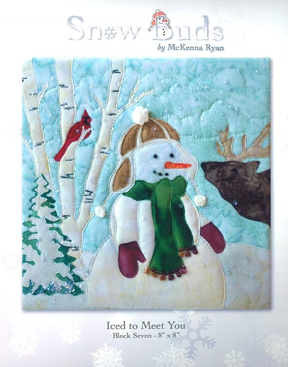 Snow Buds Applique Kit Block 7 - Iced to Meet You