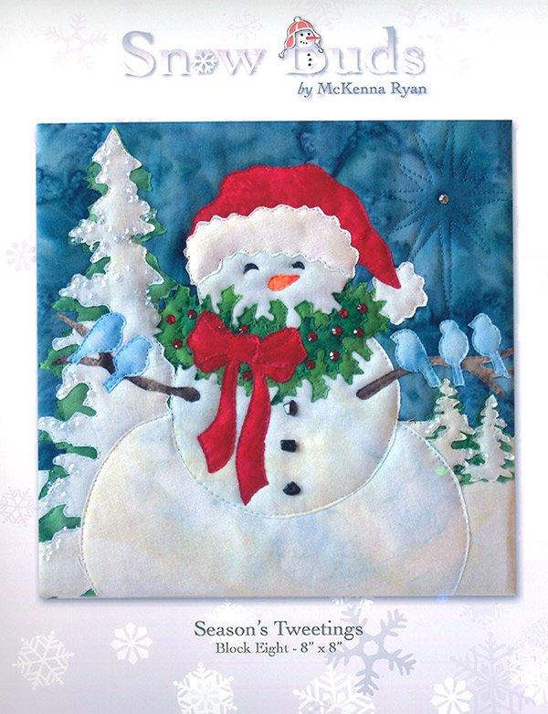 Snow Buds Applique Kit Block 8 - Season's Tweetings