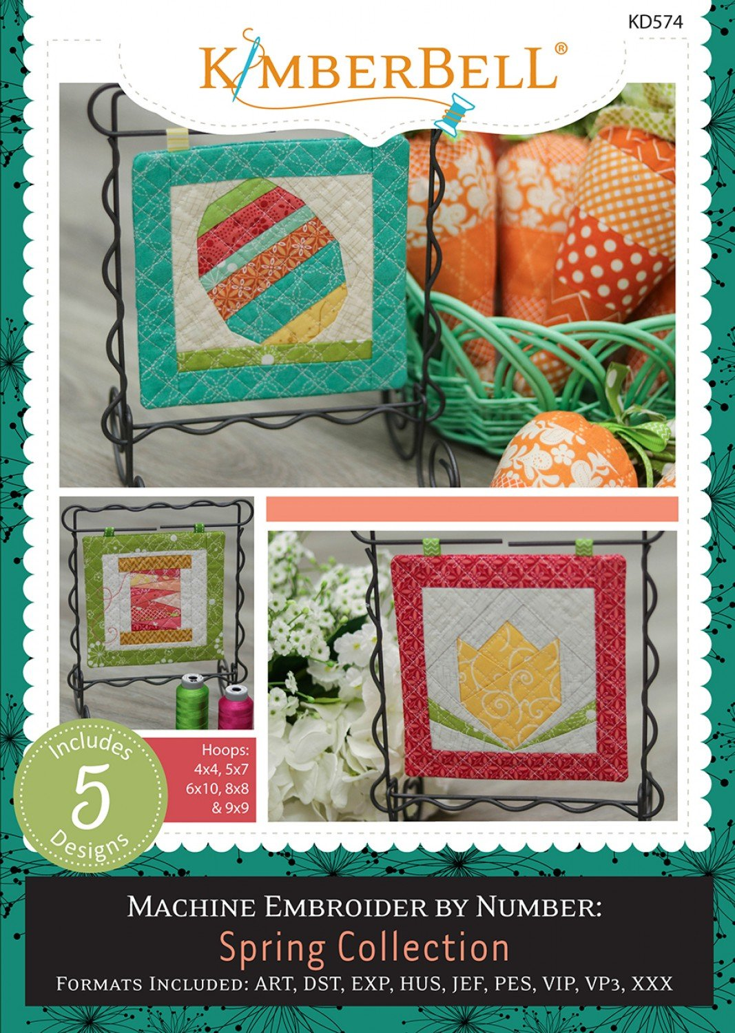 Spring Collection Machine Embroidery by Number Patterns CD