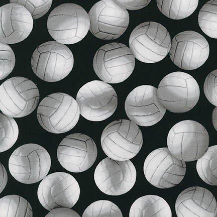SRK-15658-2 Volleyballs white on black